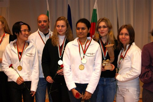 Winners of the women section - Cercle d'Echecs de Monte Carlo