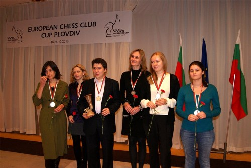 St.Petersburg Chess Club, silver medal in the women section